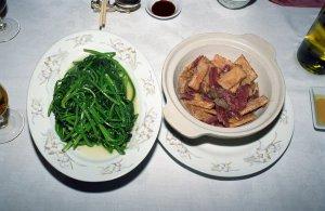 茘芋臘味保と青菜
