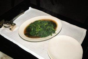 白灼青莧菜