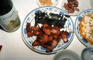 苔菜小方烤(海苔と豚の角切焼)
