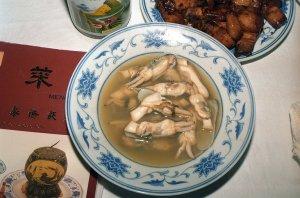 香鹵炖蟶(マテ貝のスープ)