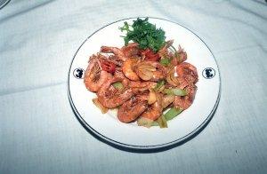 蝦の炒め物