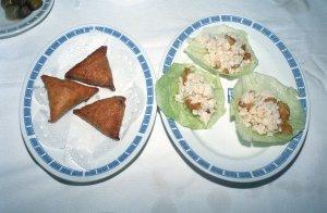 湯葉包みと生炒蝦鬆