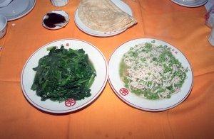 野菜炒めと鮮豆鶏絲