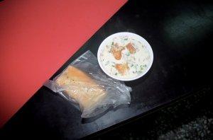 咸豆漿と 肉松酥餅
