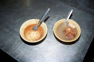 肉圓 、 排骨湯
