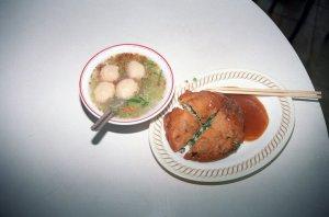 蝦丸湯と蚵爹(オーディエ)