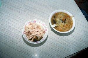 鶏肉飯と扁魚白菜湯