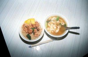 蝦仁飯と鴨蛋湯
