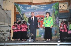 おばちゃんの桃踊り@新竹城隍廟夜市