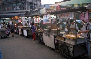 河粉蒸、白川町涼麺@台北屋台食べ歩き