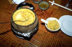 椰盅●海鮮飯(●は火偏に局です)