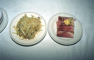 炒土豆絲と肴肉