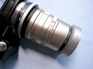 CONTAX-G用Sonnar 90mmF2.8+NEX-5@KIPON C/G-NEXアダプターリング