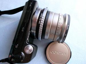 CONTAX-G Biogon T* 21mmF2.8+NEX-5@アダプター遊び