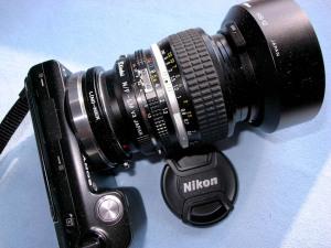 ニコンAI50mmF1.2+NEX-5@アダプター遊び