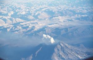 火山@アラスカ上空