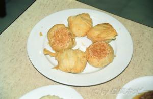 麺筋百頁と蘿葡絲餅@香港一品香菜館