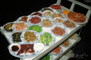 前菜のワゴン@長沙華天大酒店