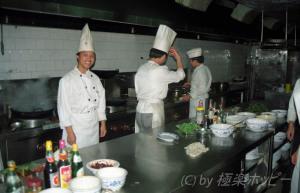 チーフコックと厨房@長沙華天大酒店