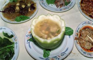 樟茶鴨、雲白肉、泡菜@重慶ホリデーイン金沙庁