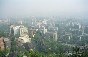 紅星亭からの眺め@重慶枇杷山公園