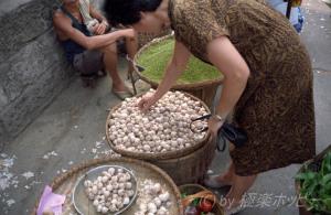 四川の独蒜@重慶自由市場
