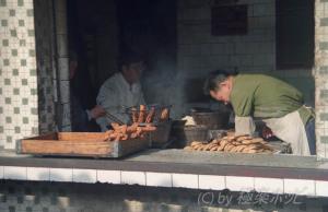 油條と焼餅@揚州食べ歩き