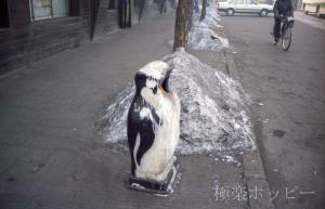 ペンギン型ゴミ箱@瀋陽ぶらぶら