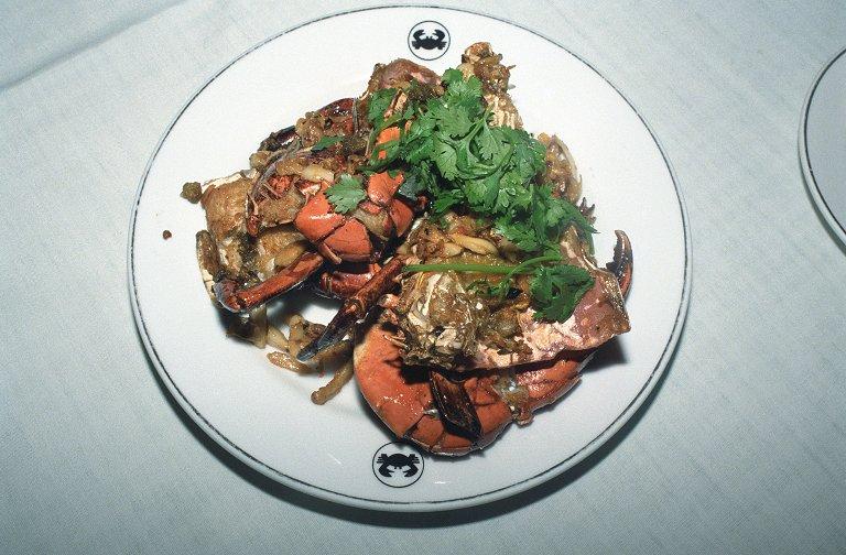 蟹の炒め物