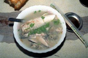 サバヒー(虱目魚)のお粥@台湾台南