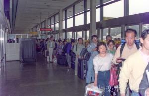 機場での行列@上海から成田へ